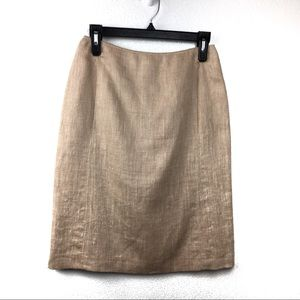 MaxMara Tan Linen Skirt